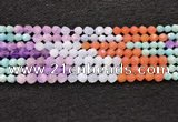CMQ461 15.5 inches 6mm faceted nuggets mixed quartz beads