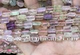 CMQ505 15.5 inches 8*10mm rectangle colorfull quartz beads wholesale
