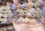 CMQ508 15.5 inches 16mm twisted coin colorfull quartz beads