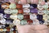 CMQ515 10*12mm - 13*18mm faceted nuggets colorfull quartz beads