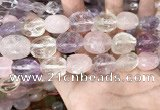 CMQ522 12*16mm - 15*20mm faceted nuggets colorfull quartz beads