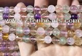 CMQ531 15.5 inches 8mm faceted round colorfull quartz beads