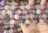 CMQ539 15.5 inches 12mm faceted round colorfull quartz beads