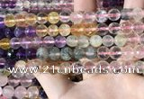CMQ544 15.5 inches 8mm faceted round colorfull quartz beads