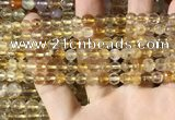 CMQ560 15.5 inches 6mm faceted round citrine gemstone beads