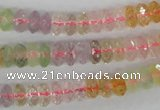 CMQ58 15.5 inches 4*8mm faceted rondelle multicolor quartz beads