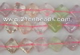 CMQ80 15.5 inches 8*8mm diamond multicolor quartz beads
