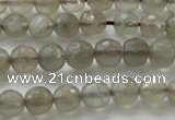 CMS1060 15.5 inches 6mm faceted round grey moonstone beads wholesale
