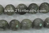 CMS126 15.5 inches 14mm faceted round moonstone gemstone beads