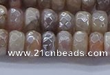 CMS1322 15.5 inches 5*8mm faceted rondelle AB-color moonstone beads