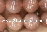 CMS1477 15.5 inches 10mm round moonstone beads wholesale