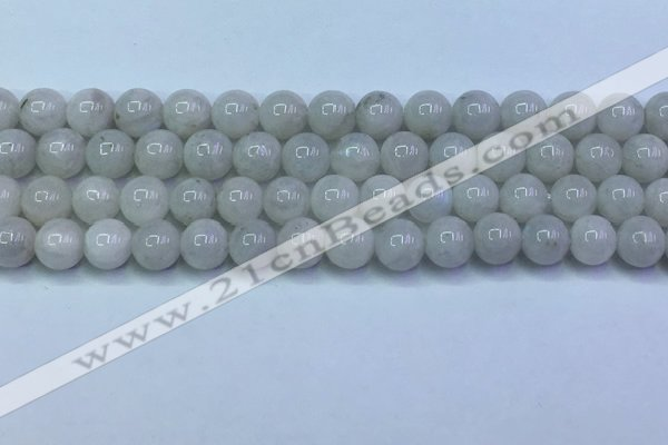 CMS1490 15.5 inches 6mm round white moonstone beads wholesale