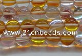 CMS1531 15.5 inches 6mm round synthetic moonstone beads wholesale