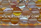 CMS1534 15.5 inches 12mm round synthetic moonstone beads wholesale