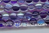 CMS1571 15.5 inches 6mm round synthetic moonstone beads wholesale