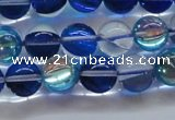 CMS1583 15.5 inches 10mm round synthetic moonstone beads wholesale