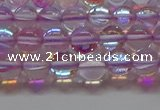 CMS1591 15.5 inches 6mm round synthetic moonstone beads wholesale