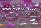 CMS1594 15.5 inches 12mm round synthetic moonstone beads wholesale