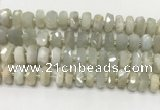 CMS1768 15.5 inches 6*10mm - 8*11mm faceted tyre moonstone beads