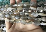 CMS1850 15.5 inches 8*12mm faceted oval grey moonstone beads