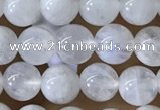 CMS1921 15.5 inches 6mm round white moonstone gemstone beads