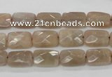 CMS40 15.5 inches 8*12mm faceted rectangle moonstone gemstone beads