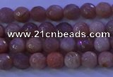 CMS570 15.5 inches 6mm faceted round moonstone gemstone beads