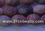 CMS581 15.5 inches 10*14mm rice moonstone gemstone beads