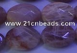 CMS586 15.5 inches 13*18mm faceted oval moonstone gemstone beads