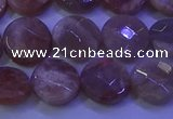 CMS589 15.5 inches 10mm faceted coin moonstone gemstone beads