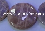 CMS595 15.5 inches 35mm faceted coin moonstone gemstone beads