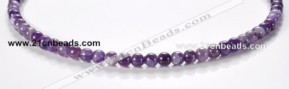 CNA01 6mm round AB grade natural amethyst quartz beads Wholesale