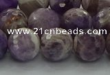 CNA1014 15.5 inches 12mm faceted round dogtooth amethyst beads