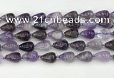 CNA1180 15.5 inches 11*16mm teardrop amethyst beads wholesale