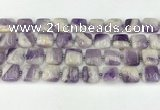 CNA1183 15.5 inches 14*14mm square amethyst beads wholesale