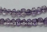 CNA39 15.5 inches 6*9mm pig-shaped grade A natural amethyst beads