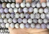 CNA678 15.5 inches 10mm round matte lavender amethyst beads