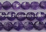 CNA69 15.5 inches 8mm faceted round natural amethyst beads