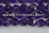 CNA757 15.5 inches 6mm faceted nuggets amethyst beads wholesale