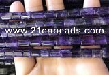CNA777 15.5 inches 7*7mm - 7*8mm tube natural amethyst beads