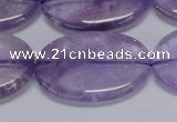 CNA837 15.5 inches 25*35mm oval natural light amethyst beads