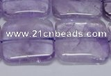 CNA846 15.5 inches 25mm square natural light amethyst beads