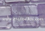 CNA849 15.5 inches 40mm square natural light amethyst beads
