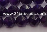 CNA938 15.5 inches 10mm faceted nuggets amethyst gemstone beads