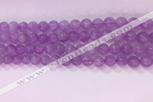 CNA953 15.5 inches 7mm round natural lavender amethyst beads