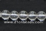 CNC03 15.5 inches 10mm round grade AB natural white crystal beads