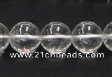 CNC05 15.5 inches 14mm round grade AB natural white crystal beads