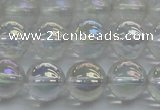CNC202 15.5 inches 8mm round AB-color white crystal beads