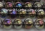 CNC252 15.5 inches 8mm round AB-color white crystal beads