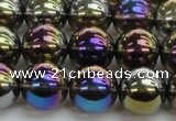 CNC253 15.5 inches 10mm round AB-color white crystal beads